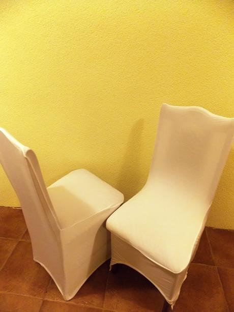 Návlek na stoličku - biely, univerzálny ,