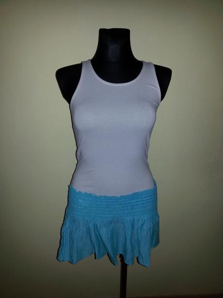 letná tyrkysová suknička, 36