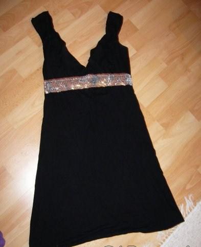 Čierne šatky s glitrami zn.blend, S