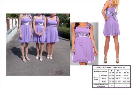 Lila šaty pro družičky, 38