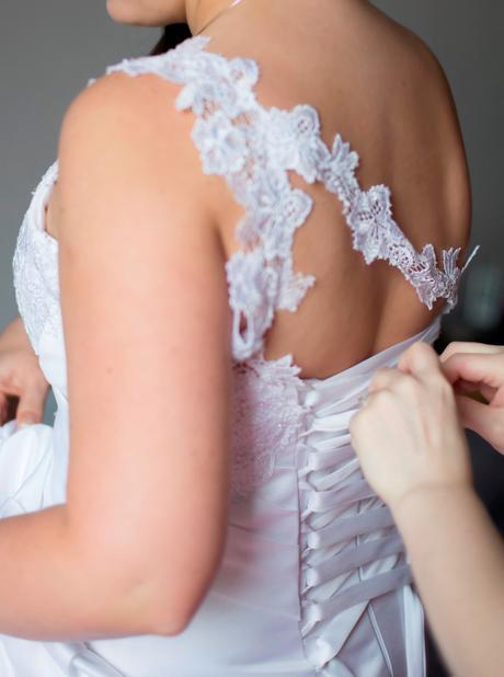 Original svatební šaty na šněrování, vel 40-44, 42