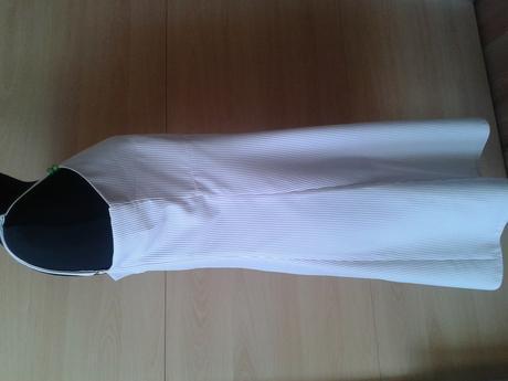 voľné šaty prúžkové fialovo-biele - L , 40