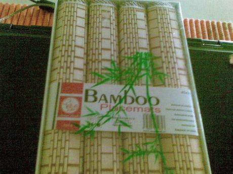 darčekové bambusové prestieranie,