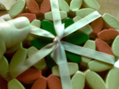 podložky z bambusu  pod poháre,