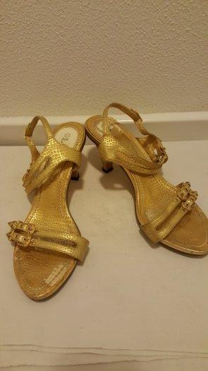 zlaté tanečné topánky č. 37, 37