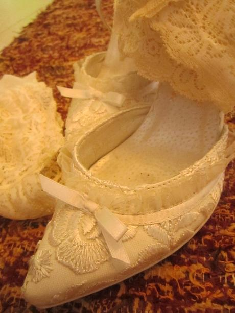 Luxusní svatební botičky ivory,vel.35, 35