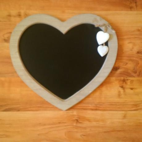 Dřevěná tabulka - srdce,
