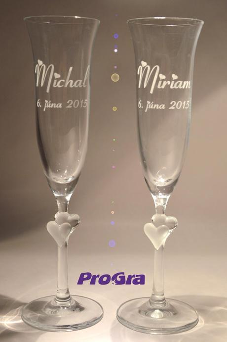 Abigail - svatební skleničky 2ks,
