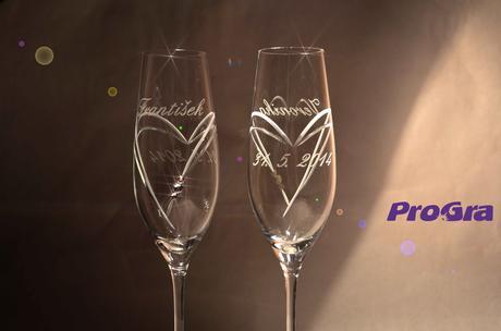 Amelie - svatební skleničky 2ks,