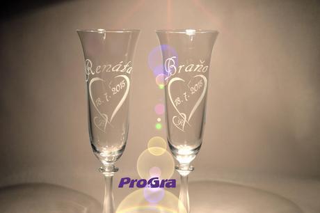 Angela - svatební skleničky 2ks,