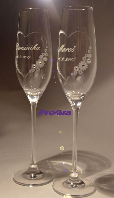 Chloe - svatební sklenice - 2ks,