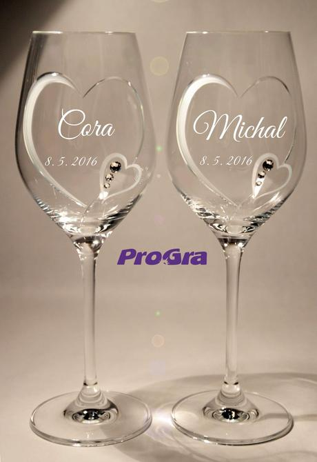 Cora - svatební skleničky 2ks,