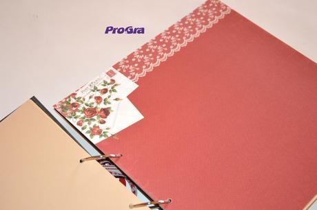 Dřevěný svatební album - Věneček - 30 x 30 cm,