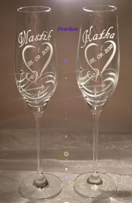 Ingrid - svatební skleničky 2ks,