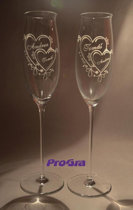 Jasmine - svatební skleničky 2ks,