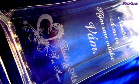Poděkování rodičům - gravárována váza Leila,