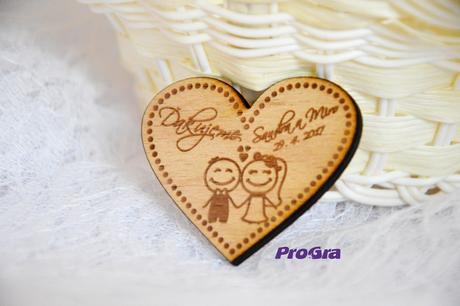 Svatební magnet - srdíčko,
