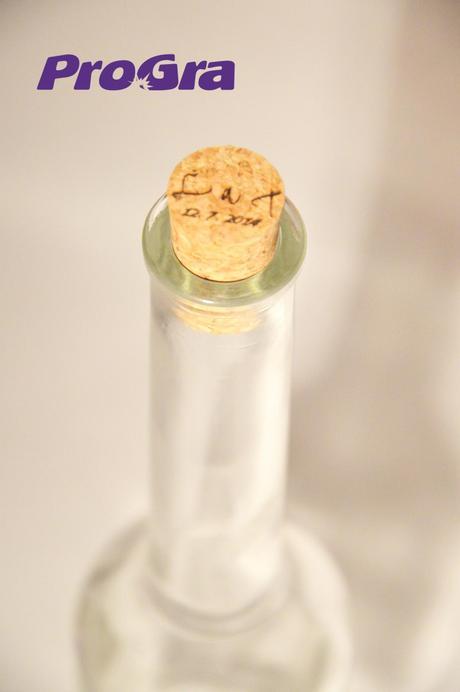 Svatební pálenka - láhev s gravírováním,