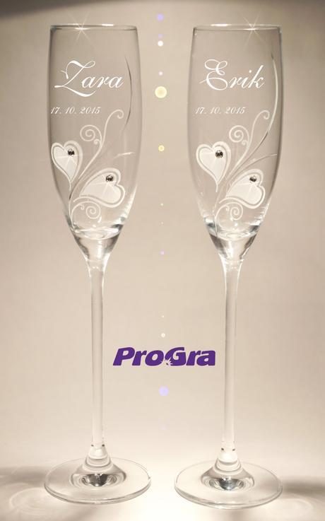 Zara - svatební skleničky 2ks,