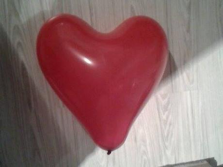 červené srdce -balon velký,