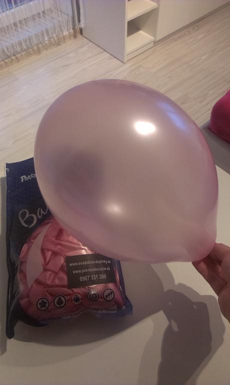 metalické balony vhodné aj na hélium,