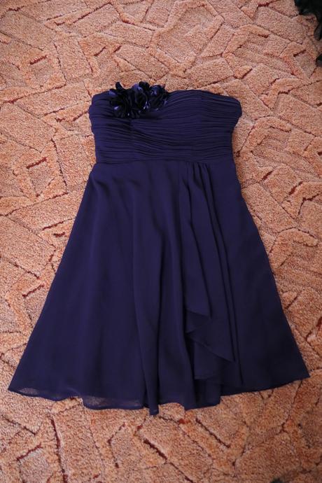 Fialové koktejlové šaty , S