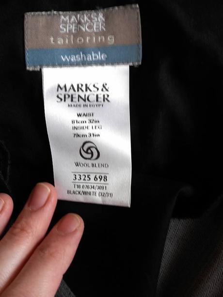 panske spolecenske kalhoty Marks & Spencer, M