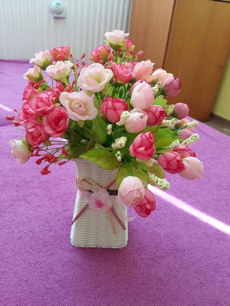 3 ks umelé kvety ,