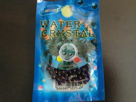 Vodne perly fialove a transparentne,