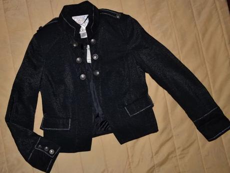 čierne nenosené sako,kabátik, M
