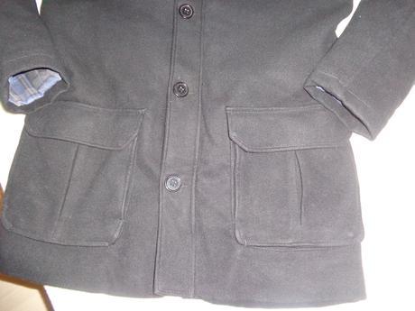 pánsky čierny kabát, L