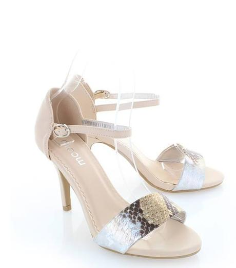Béžové sandálky s přeskou kolem nohy, 39