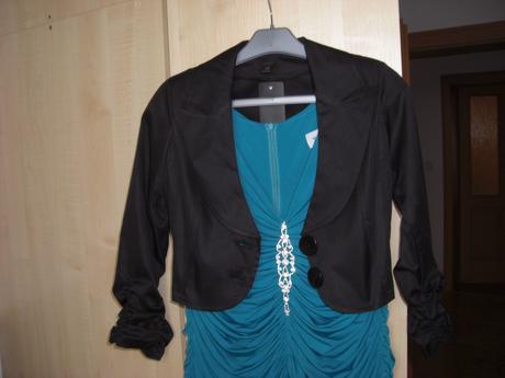 Luxusní společenský kabátek černý, 38