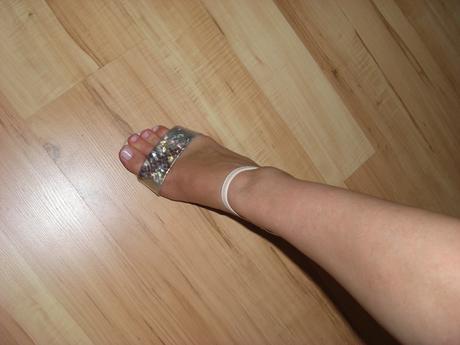 Sandálky společenské světlé, 39