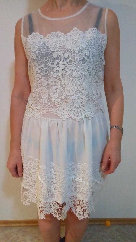 biele šaty M, M