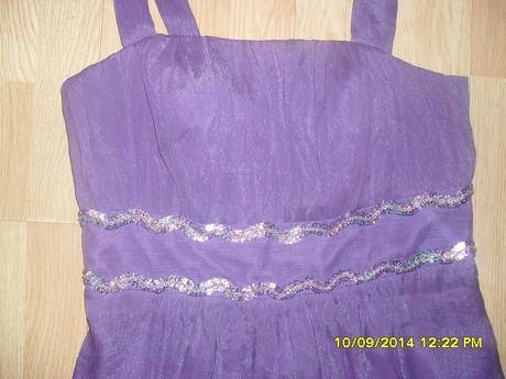 fialové šaty , 40