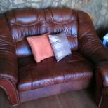 Kožená sedačka ,