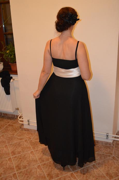 Spoločenské šaty - čierne, 38