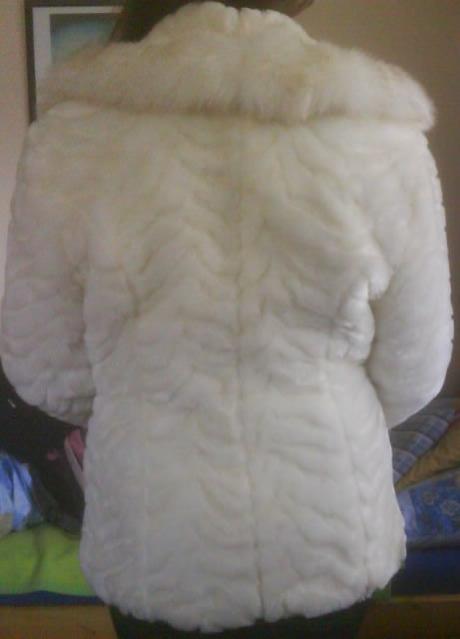 Kožušinový kabátik veľkosť S/M,