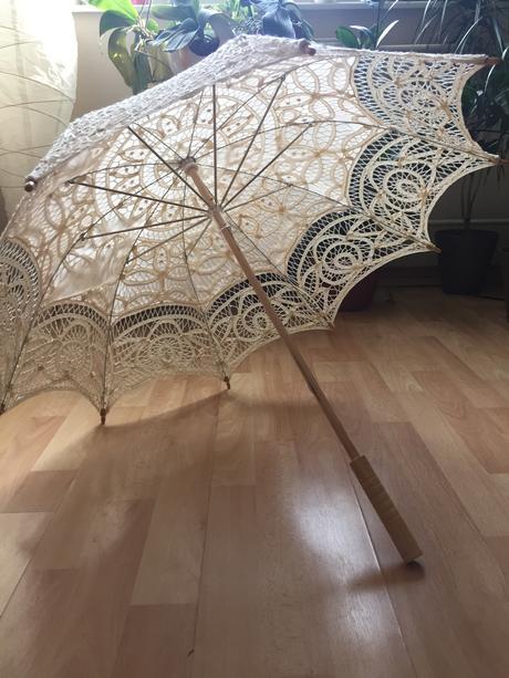 Čipkovaný svadobný dáždnik,
