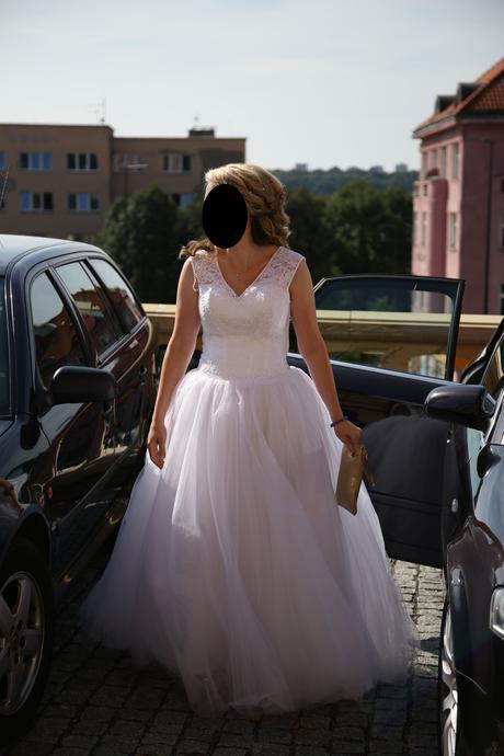 Princeznovské svatební šaty velikost 38-40, 40