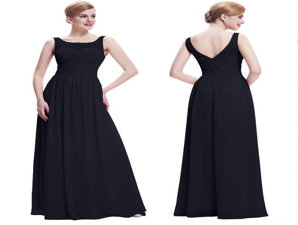 c47890959246 Čierne spoločenské šaty pre moletky