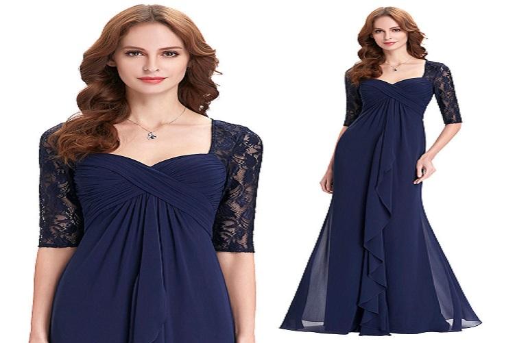 Modré spoločenské šaty pre moletky a54c8a4146b