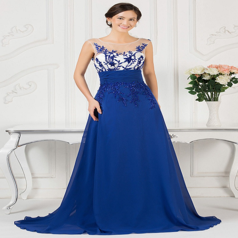 Modré spoločenské šaty pre moletky 59d7c714c48