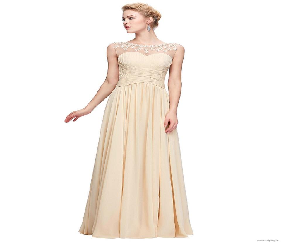 9b67fcd703a3 Smotanové spoločenské šaty pre moletky