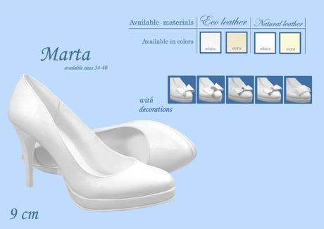 Svadobné lodičky Marta - veľ. od 34 do 40, 38