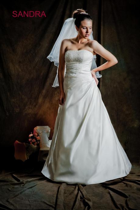 Svadobné šaty Sandra, biele, 38