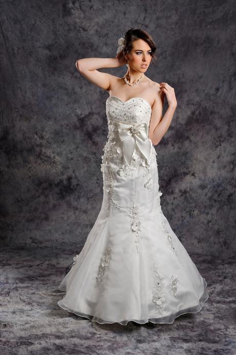 Svadobné šaty Viera na vysokú postavu 180 cm, 38