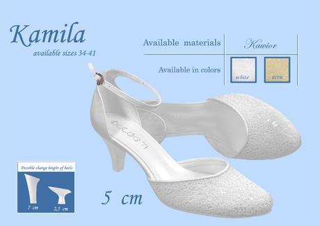Svadobné topánky Kamila - veľ. od 34 do 41, 34