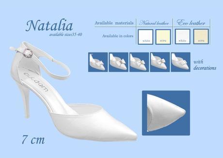 Svadobné topánky Natalia, veľ. 35 - 40, aj biele, 37